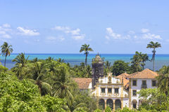 Landscape from ancient buildings in Olida, Recife Brazil Royalty Free Stock Images