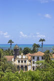 Landscape from ancient buildings in Olida, Recife Brazil. With sea at the background stock photo
