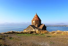 Landscape with an ancient church royalty free stock photography