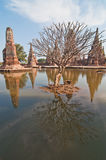Landscape of ancient city with flood Royalty Free Stock Photography
