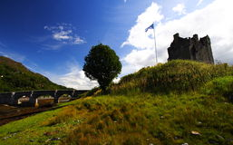 Landscape And Castle Royalty Free Stock Photography