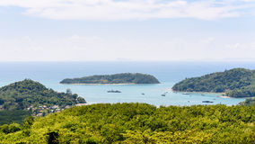 Landscape Andaman Sea and Koh Tapao Noi in Phuket, Thailand Stock Image