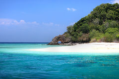 Landscape of Andaman Sea with sea coast and blue sky in Lipe Island Stock Image