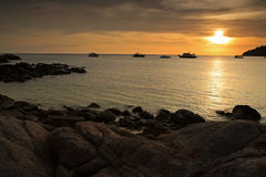 Landscape of Andaman sea at sunset Stock Images