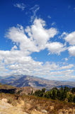 Landscape of the Andes of Peru Royalty Free Stock Images