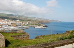 Landscape of Angra do Heroismo,. Terceira Island, Azores, Portugal Stock Photography