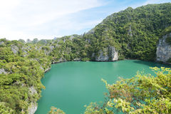 Landscape of angthong national marine park Royalty Free Stock Photo