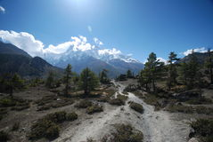 Landscape of Annapurna, Nepal Stock Photography