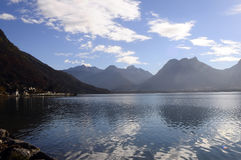 Landscape of Annecy lake in France Royalty Free Stock Photo