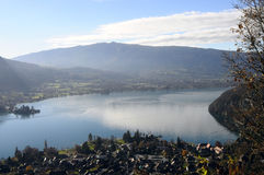 Landscape of Annecy lake in France Royalty Free Stock Images