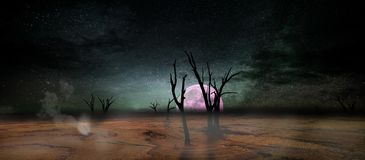 Landscape of another world Stock Images