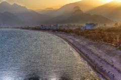Landscape of Antalya Beach. Beautiful landscape of Antalya. Konyaalti Beach Royalty Free Stock Photo
