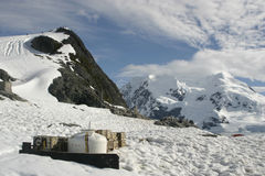 Landscape in Antarctica, abandoned waste Stock Photo
