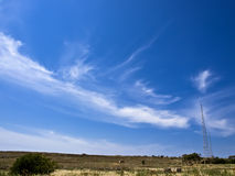 Landscape and Antenna Royalty Free Stock Images