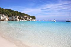 Antipaxos beach landscape Greece Stock Photo