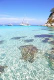 Antipaxos beach landscape Greece Royalty Free Stock Images