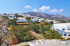 Landscape of Apollonia Sifnos Greece royalty free stock photo