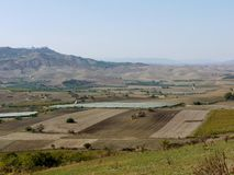 The landscape between Apulia and Basilicata in the south of Italy Royalty Free Stock Photo