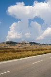 Landscape in Apulia (Italy). Near Candela (Foggia Royalty Free Stock Photography