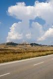 Landscape in Apulia (Italy). Near Candela (Foggia royalty free stock photography