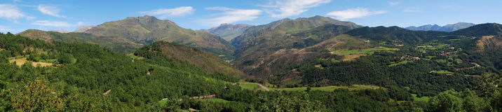 Landscape of the Aragonese Pyrenees. Panorama of the Aragonese Pyrenees Stock Photo