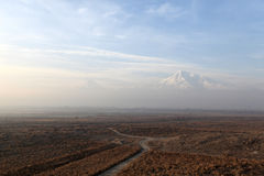 Landscape of Ararat mount Stock Photo