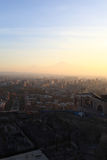 Landscape of Ararat mount over Yerevan. In the morning, Armenia Royalty Free Stock Photos