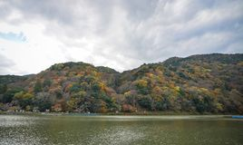 Autumn scenery in Kyoto, Japan. Landscape of Arashiyama in Kyoto, Japan. Kyoto served as Japan capital and the emperor residence from 794 until 1868 Royalty Free Stock Photography