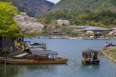 Landscape of arashiyama in kyoto Royalty Free Stock Images