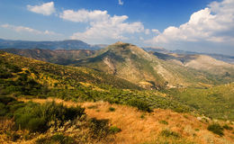 Landscape from Arcadia. Landscape from the rough and mountainous Arcadia, southern Greece Stock Photo