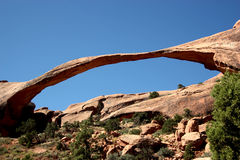Landscape Arch. View of Landscape Arch at Arches National Park in Utah Royalty Free Stock Photos