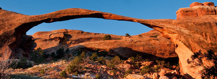 Landscape Arch. Panoramic Composition of Landscape Arch at Sunrise Royalty Free Stock Photo