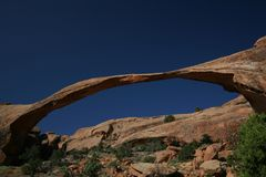 Landscape Arch. At Arches National Park, UT, USA Stock Images