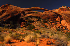 Landscape Arch. Arches National Park and Landscape Arch in spring royalty free stock image