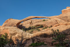 Landscape Arch in Arches N.P. Royalty Free Stock Photos