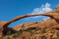 Landscape Arch in Arches N.P. Scenic landscape arch in arches national park Utah Royalty Free Stock Images