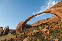 Landscape Arch in Arches N.P. Royalty Free Stock Photo