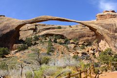 Landscape Arch, Arches National Park Stock Image