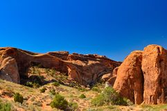 Landscape arch in the Arches national park stock image