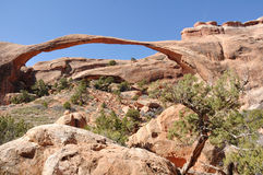 Landscape Arch in Arches National Park. Near Moab, Utah Stock Image