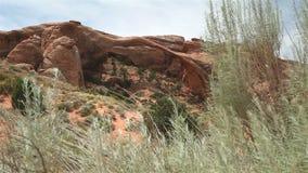 Landscape Arch, Arches National Park, Utah stock video