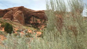 Landscape Arch, Arches National Park, Utah stock video footage