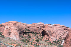 Landscape Arch in Arches National Park,  Utah. View of the natural Landscape Arch in Arches National Park,  Utah Royalty Free Stock Photo