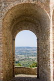 Landscape through an arch Royalty Free Stock Photo