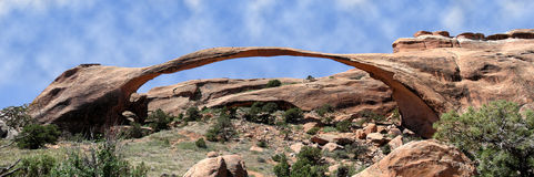 Landscape arch panoramic Royalty Free Stock Photography
