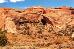 Landscape Arch Rock Canyon Arches National Park Moab Utah Royalty Free Stock Image