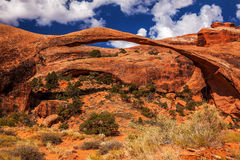 Landscape Arch Rock Canyon Arches National Park Moab Utah Royalty Free Stock Images