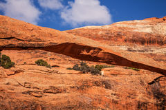 Landscape Arch Rock Canyon Arches National Park Moab Utah Stock Photos