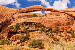 Landscape Arch Rock Canyon Arches National Park Moab Utah Stock Photo