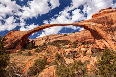 Landscape Arch Rock Canyon Devils Garden Arches National Park Mo Royalty Free Stock Photos
